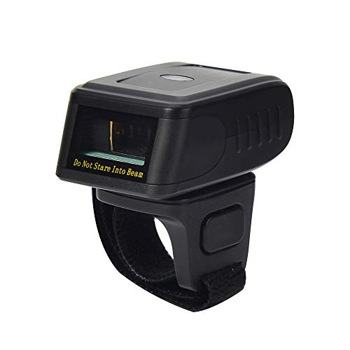 LENVII R200 2D Wearable Ring Barcode Scanner Bluetooth &2.4G Mode Wireless Finger Mini Bar Code Reader- Compatible for Windows- Mac OS, Android 4.0+, iOS, Support Scan QR PDF417 DataMatrix UPCA/EAN+5 (Best Qr Code Android)