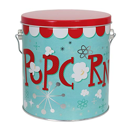 Premium Popcorn or Cookie Bucket | Container Tin | Metal | Extra Large | Jumbo 1 ()