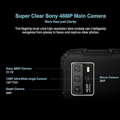 Rugged Phone,OUKITEL WP10 5G Unlocked Smartphones,6.67''FHD+8000MAH Battery 18W Fast Charge,8GB+128GB Android 10,Sony 48MP Quda Camera,Fingerprint/Face ID/NFC, Waterproof Phone Global Version Orange