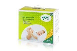 XKKO 23021106 - Pack de 40 pañales desechables ecológicos y 100% biodegradables, 3-6 kg