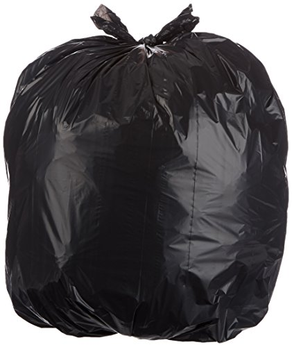 AmazonBasics 32 Gallon Trash Can Liner, Lawn and Leaf, 1.1 mil, Black, 150-Count