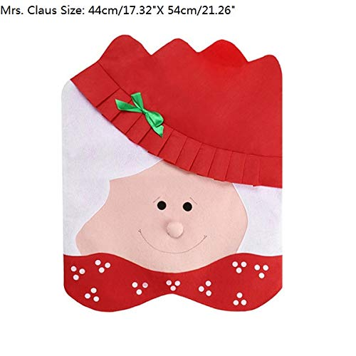 Best Quality - Pendant & Drop Ornaments - Santa Claus Mrs. Claus Cap Chair Covers Christmas Dinner Table Decoration for Home Chair Back Cover Decoracion Navidad - by Tini - 1 PCs -  TINICFA770F2