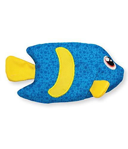 Outward Hound Floatiez Angel Fish Floating Blue Dog Toy