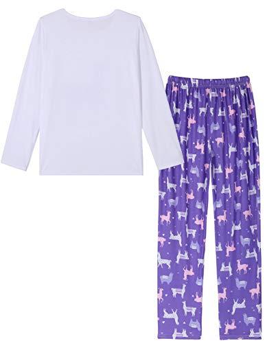 a42fdcfb91 HONG HUI Womens Long Sleeve Sleepwear Casual 2 Piece Pajamas Long Cute PJ  Set
