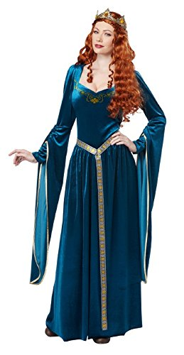California Costumes Women's Lady Guinevere Costume, Teal, (Renaissance Queen Adult Costumes)