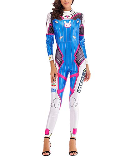 Fashion Comic Cosplay Constume for Women 3D Printed Casual Jumpsuit Bodysuit]()