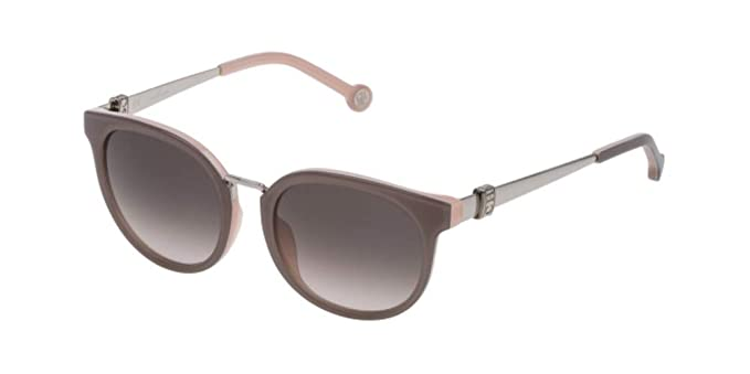Carolina Herrera SHE754 SILVER (09AL) - Gafas de sol: Amazon ...