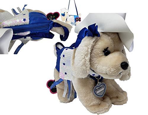(Girls Plush Dog Shoulder Bag   Handbag with Purse Pouch   Adorable Soft & Fluffy)