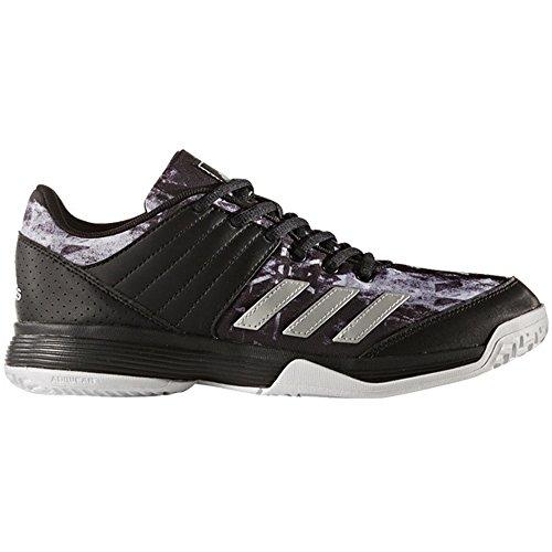 adidas Performance Women's Ligra 5 W Tennis Shoe, Black/Metallic Silver/White, 11 Medium US