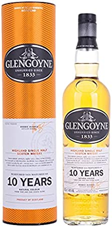 GLENGOYNE Glengoyne 10 Years Old Highland Single Malt Scotch Whisky 40% Vol. 0,7l in Giftbox - 700 ml