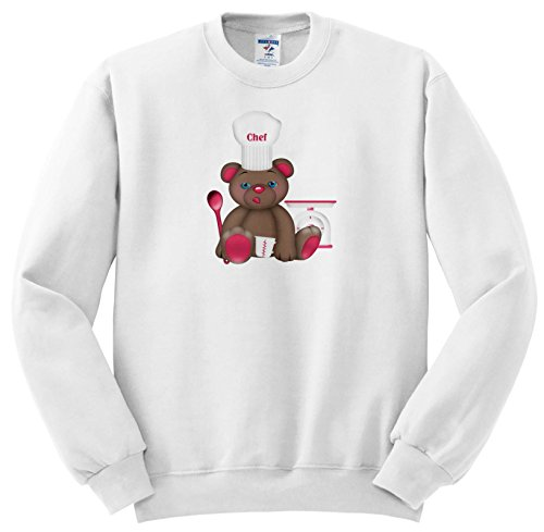 Price comparison product image Anne Marie Baugh - Illustrations - Cute Pink and Brown Bear Chef With Chefs Hat Illustration - Sweatshirts - Youth Sweatshirt XS(2-4) (SS_264913_9)