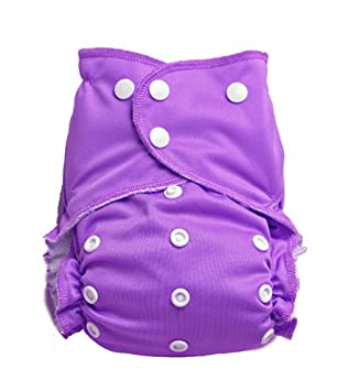 Easy Peasies Pocket Cloth Diaper Cover 6-40 lbs One Size Ships From Canada (Orchid)
