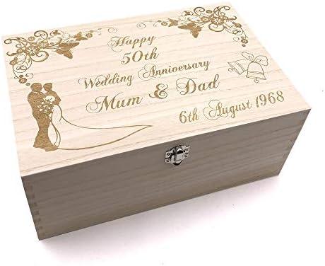 Raised Words Special Dad Gift Personalised Large wooden Keepsake Box Gift