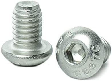 Full Thread Machine Thread Allen Socket Drive KINJOEK 100Pack 1//4-20 x 1 Button Head Socket Cap Screws Stainless Steel 18-8 Bright Finish