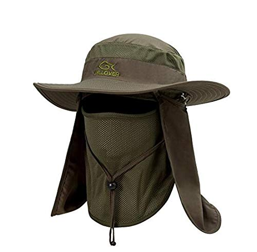 3579237c Lover Outdoor UV Sun Protection Wide Brim Fishing Cap -Men and Women Face  Cover Summer Removable Mesh Neck Face Flap Gardener Hat for Outdoor Sports  & ...