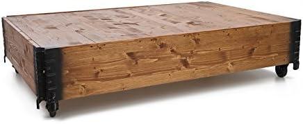 Grote Verrassing Uncle Joe Jords, 104 x 64 x 30 cm, hout, lichtbruin, vintage, shabby chic salontafel, bruin, 104 x 64 x 30 cm  9Z3kZrD