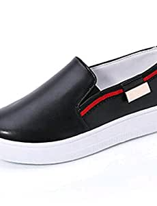 ZQ Zapatos de mujer-Plataforma-Comfort-Mocasines-Exterior / Laboral / Casual-PU-Negro / Rojo / Blanco / Plata , silver-us9 / eu40 / uk7 / cn41 , silver-us9 / eu40 / uk7 / cn41