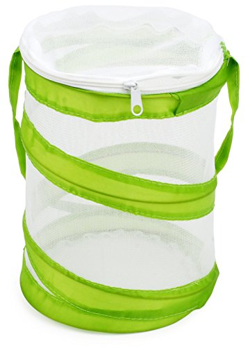 """Restcloud 2-Pack Mini Butterfly Habitat, Insect Mesh Cage, Bug Catching Terrarium Pop up 5.5"""" x 7"""" Tall"""