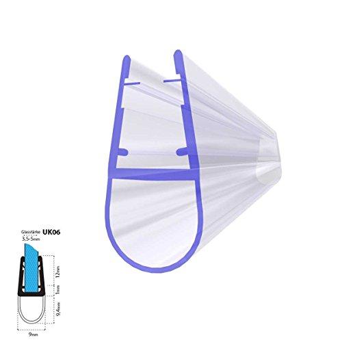 Joint d'étanchéité de rechange pour verre de douche d'épaisseur 3,5mm/ 4mm/ 5mm UPS DPD protection surtensions de cabine de douche - UK06 140cm