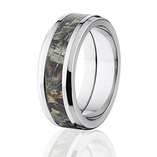 Realtree Advantage Timber Camo Rings, Titanium Band