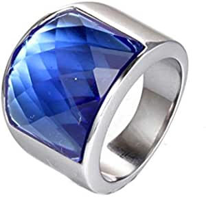 خاتم خمر العقيق التيتانيوم الصلب للرجال