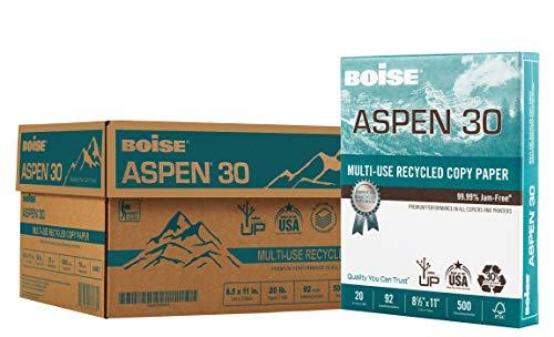 BOISE ASPEN 30% Recycled Multi-Use Copy Paper, 8.5
