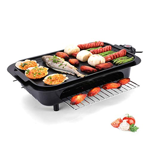 Electric Griddle | Non-Stick Teppanyaki Grill Pan | Large Table-top Breakfast Cooking Plate | 47x28cm | Easy Clean |Adjustable Temperature | Indoor Portable BBQ Barbecue