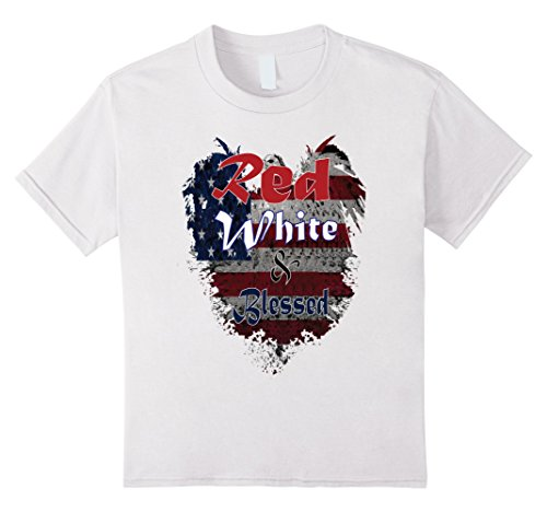 unisex-child 4th of July Shirt for Christians Teaching Christ's Children 10 White