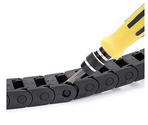 Semi Enclosed Type Plastic Towline Machine Tool Cable Carrier Drag Chain Nested 1M Length 10 x 10MM for The Drag Chain Has Been Widely Used in CNC Machine Tools HAILINLING 5559007197