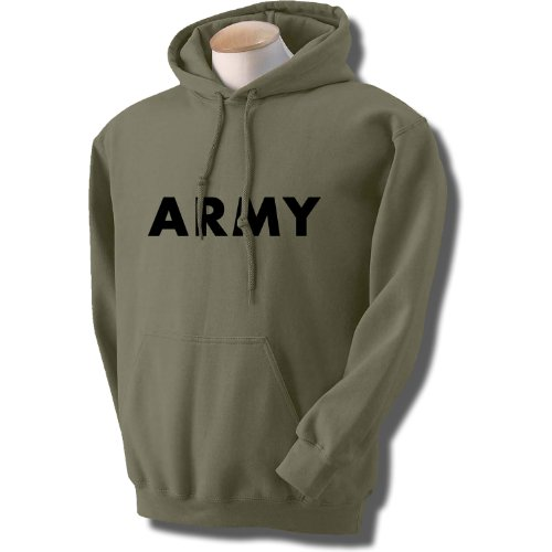 ARMY Hooded Sweatshirt in Military Green - Army Military Hooded Sweatshirt Shopping Results
