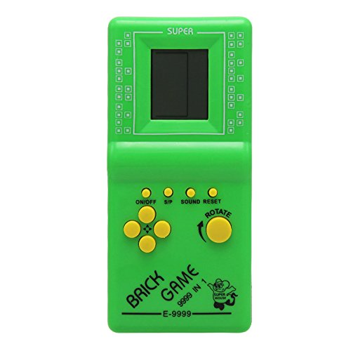Green JXD Children's Educational Toys Players For Children Or Adults Built-in 23 Games Tetris Game (Video Games For Adults)