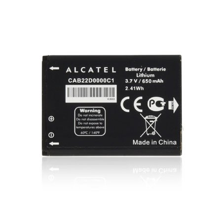 Original Battery for Alcatel CAB22D0000C1for One Touch 506, one touch1060, 650mAh Li-Ion Bulk