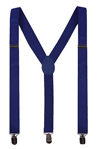 JIERKU Mens Blue Suspenders for Men Suspenders Button Braces Royal Blue