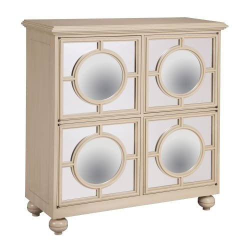 Sterling Industries 6042341 39″ Height Mirage Cabinet, Ivory
