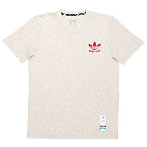 Adidas Cotton Jersey - Adidas Alltimers (Off White) T-Shirt-XLarge