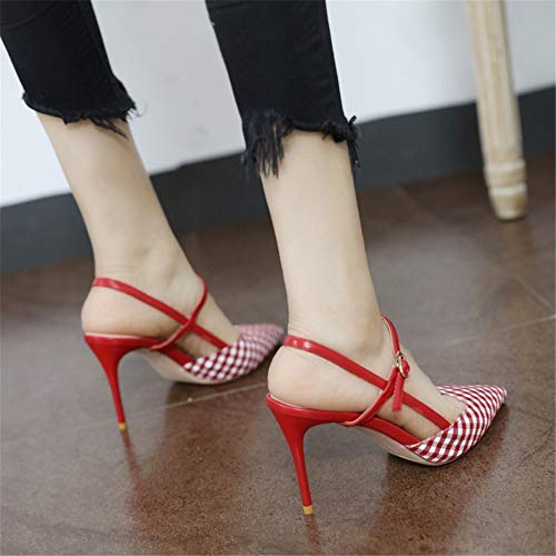 sexy with sandals YMFIE wedding high fine air back 35 temperament summer European heels pointed EU temperament shoes fashion elegant qv6qXR