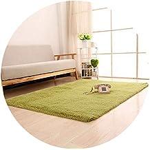 Super Soft Long Plush Silky Mat Carpet Door Area Rug Bedroom Living Room Window Bedside,grass green,500mm x 1200mm