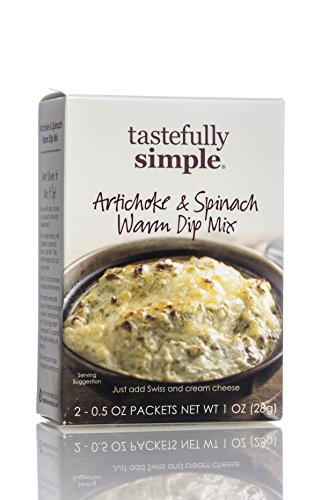 Tastefully Simple Artichoke & Spinach Warm Dip (Cheese Dip Mix)