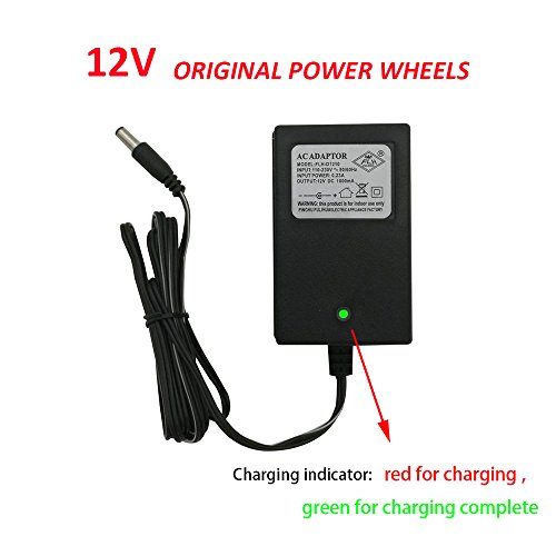 12V Kids Powered Ride On Car Universal Charger with Charging Indicator Light-For a variety of electric baby carriage ride toy battery supply power adapter (Cars 12 Battery Powered Kids Volt)