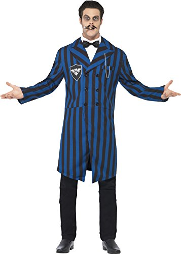 Smiffy's Men's Duke of the Manor Costume, Jacket, Mock Shirt and Bow Tie, Gothic Manor, Halloween, Size M, 24436 - Alien Movie Costume Uk