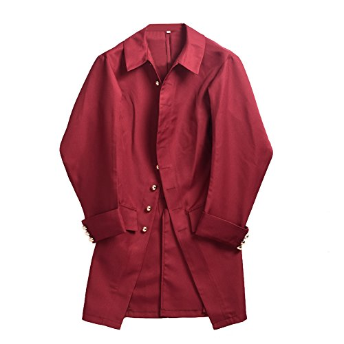 BLESSUME Colonial Men Coat Wine Red