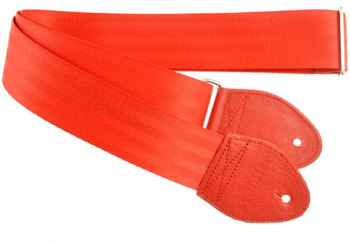 Souldier Custom GS0000RD04RD Recycled Seatbelt Electric Guitar Strap, Red ()