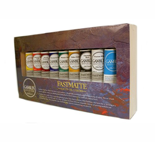 (Gamblin Fastmatte Alkyd Oil Colors Set,Multi Color,37 ml)
