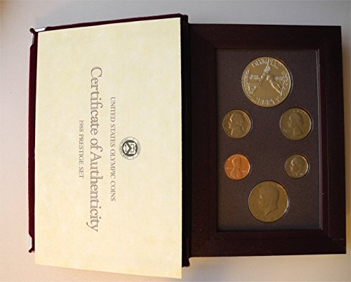 1988 S Prestige Proof Set in Original US Mint Packaging Original Box 6 Coins Olympic Coins PR-01