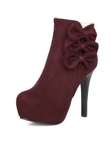 Botas 5 Vestido De Cn35 Noche Red Cn39 La us5 Tacón Xzz Eu39 Y Mujer us8 Eu36 Negro Uk3 Uk6 5 Vellón Stiletto Zapatos A Moda Black Fiesta Rojo gzwq5pxX