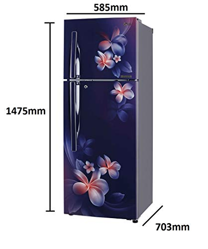 LG 260 L 3 Star Inverter Linear Frost-Free Double-Door Refrigerator (GL-T292RBPN, Blue Plumeria, Convertible) 2021 July Important note : This product is 4-star rated as per 2019 BEE rating and 3-star rated as per 2020 BEE rating Energy Rating: 3 Star   Best for Large family Warranty: 1 year on product, 10 years on compressor