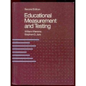 Educational Measurement and Testing by William Wiersma (1990-04-03)