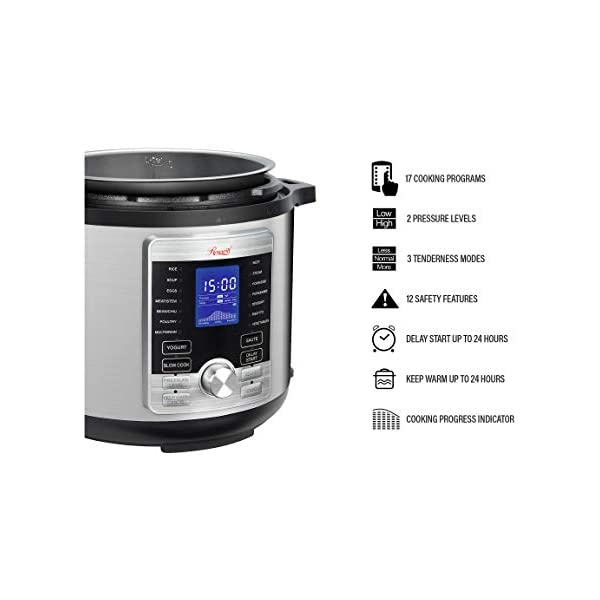 Rosewill RHPC-19001 6-QT Pressure Cooker 10-in-1 Programmable Instapot Multicooker, Slow Cooker, Rice, Yogurt, Cake… 5