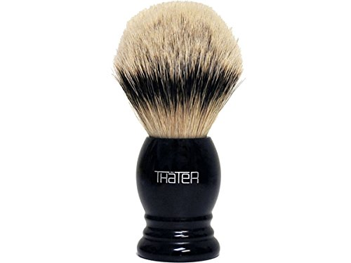 Thater 4292/4 Silvertip Shaving Brush with Black Handle by Thater