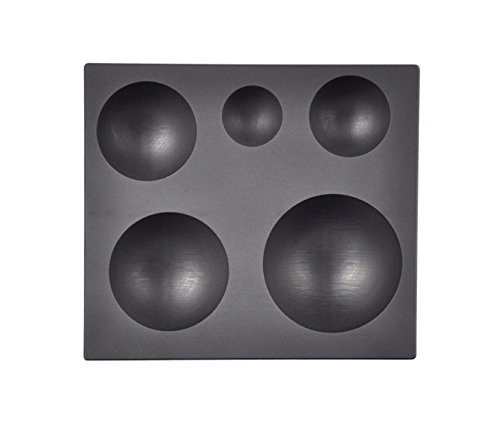 5 IN 1 Graphite Glass Marble Sphere Round Mold for Glassblowing Casting Lamp Working